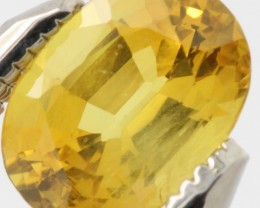 DAZZLING CEYLON UNHEATED NATURAL YELLOW SAPPHIRE 1.125Cts