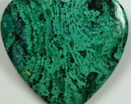 56.50 CTS TOP CHRYSOCOLLA HEART POLISHED STONE DOUBLE SIDED