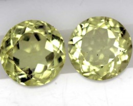 LEMON QUARTZ  PAIR  3.6  CTS   TBG-712