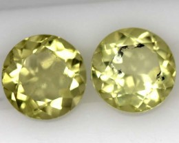 LEMON QUARTZ  PAIR  3.8  CTS   TBG-714
