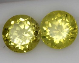 LEMON QUARTZ  PAIR  3.9  CTS   TBG-715