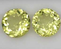 LEMON QUARTZ  PAIR 3.4   CTS   TBG-716