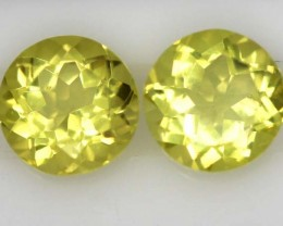 LEMON QUARTZ  PAIR  4  CTS   TBG-717