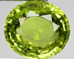 6.47 Cts Natural Parrot Green Tourmaline Oval Cut Gemstone