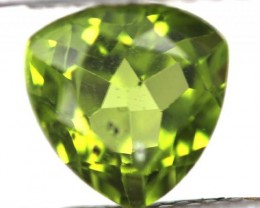 GREEN PERIDOT FACETED STONE 2.55   CTS    SG -1966