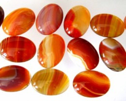 GOOD PARCEL OF 15 NATURAL AGATE CABOCHONS 25x18mm