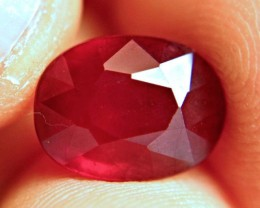 7.89 Carat VS Cherry Ruby - Superior Fire and Flash