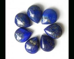 Lapis Lazuli Flower Cabochon Set,10x8x3mm,3.54g
