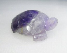 242cts Large Lovely Amethyst Turtle Carving C 5