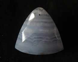 Facted Jewelry Blue Lace Agate Cabochon,28x29x8mm,7.72g
