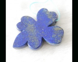 Abstract Flower Pendant Bead*Lapis Lazuli Flower,42x35x6mm