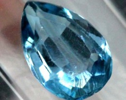 BLUE TOPAZ  NATURAL STONE FACETED 1.45  CTS TBG-823