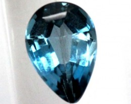 BLUE TOPAZ  NATURAL STONE FACETED  1.55 CTS TBG-827