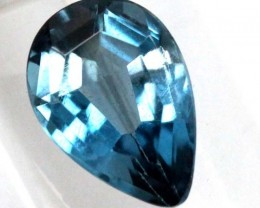 BLUE TOPAZ  NATURAL STONE FACETED 1.6  CTS TBG-828