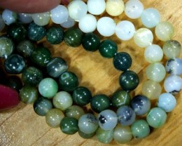 GREEN PERU OPAL DRILLED BEAD 60   CTS NP-359