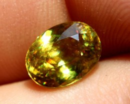 3.29 Carat VS2 Sphene - Rainbow Colors