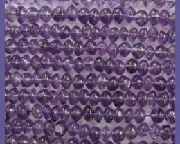 FABULOUS AA+ 5-6.00MM AMETHYST EYE CLEANSMOOTH BUTTON BEADS