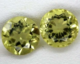 LEMON QUARTZ PAIR 2.8  CTS   TBG-852