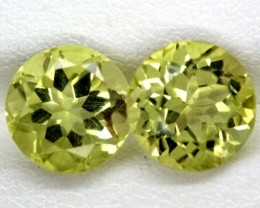 LEMON QUARTZ PAIR  4   CTS   TBG-856