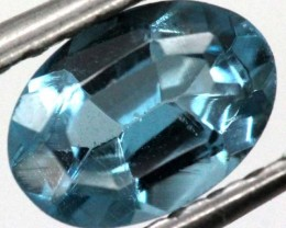 BLUE TOPAZ  NATURAL STONE FACETED 0.9  CTS TBG-861