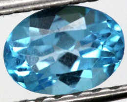 BLUE TOPAZ  NATURAL STONE FACETED 1.05  CTS TBG-862