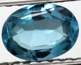 BLUE TOPAZ  NATURAL STONE FACETED 1.1  CTS TBG-865