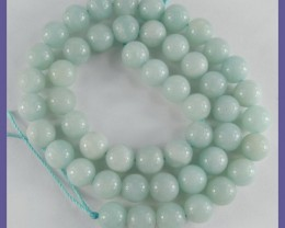 AAA 8.00MM AMAZONITE SMOOTH ROUND BEAD STRAND