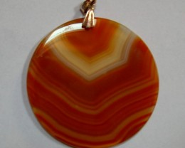 VERY NICE NATURAL AGATE PENDANT 50 MM