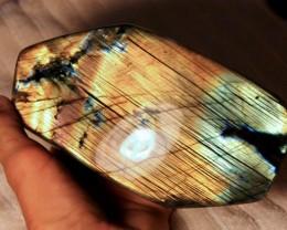 1734 Gram Gorgeous Labradorite Display Stone