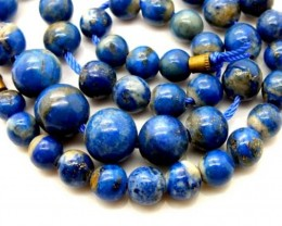 LAPIS BEADS DRILLED  NATURAL 190   CTS NP-380