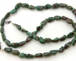 GREEN TURQUOISE  BEAD  60 CTS NP- 394    FREE SILVER PENDANT