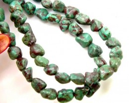 GREEN TURQUOISE  BEAD 70   CTS NP- 397   FREE SILVER PENDANT