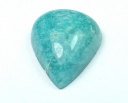 26mm drop shape Amazonite cabochon AAA Grade 31.6ct