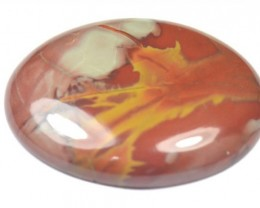 NOREENA jasper red gold oval cabochon 64.8ct 40mm AAA