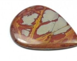 SALE 55mm gold red cabochon Noreena Jasper 55 by 34 by 5mm