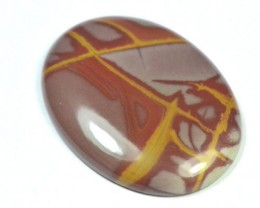 oval noreena jasper red gold cabochon