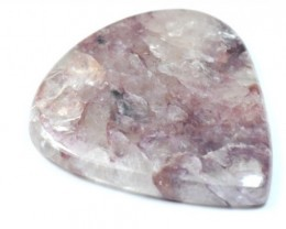 52mm CHAROITE purple heart cabochon 52 by 47 by 6mm 120.40ct