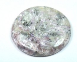 40mm Charoite purple round cabochon 40mm by 6mm deep 82.25ct