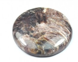 41mm Charoite brown toned round cabochon 41mm by 6mm 82.9ct