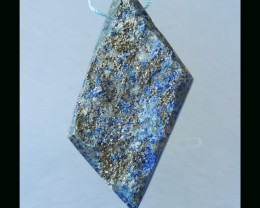 Lapis Lazuli Pendant Bead,58x28x9mm,29.08g