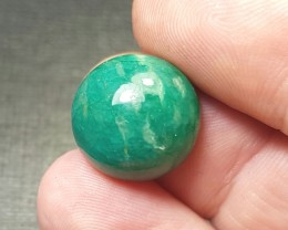 reserved 13.3mm Amazonite cabochon round 15mm by 8mm - high domed