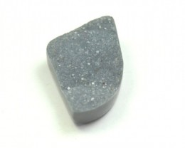 24mm black grey DRUZY AGATE CABOCHON 24 by 16 by 7mm