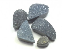18mm to 8mm 5 BLACK DRUZY AGATE cabochon Special offer