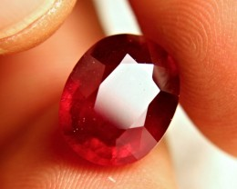 9.65 Carat Pigeon Blood Ruby - Large and Impressive
