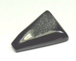 34mm black DRUZY AGATE designer CABOCHON 34 x 27 x 9mm