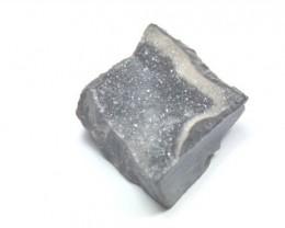 32mm grey black DRUZY AGATE diamond shape CABOCHON 32 by 26