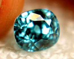 3.61 Carat VVS Blue Southeast Asian Zircon - Superb