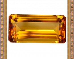 11.20 CTS FLAWLESS RARE HUGE NATURAL AAA GOLDEN CITRINE GEM
