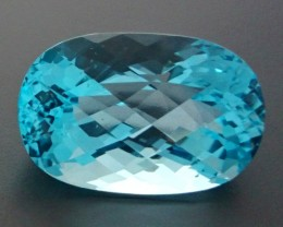 CERT 74.53ct VVS Natural Swiss Blue TOPAZ