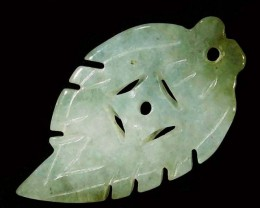 14.98 CTS JADE CARVING DRILLED -BURMA GRADE A [ST8145]